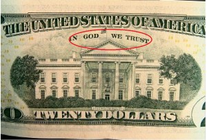 us-twenty-dollar-bills-white-house-in-god-we-trust